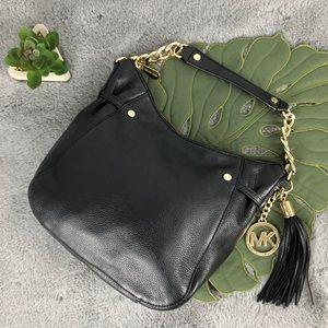 NWT MICHAEL KORS Black Shoulder Handbag w/ Tassel